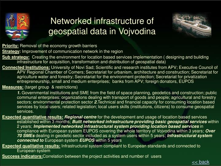 Networked infrastructure of