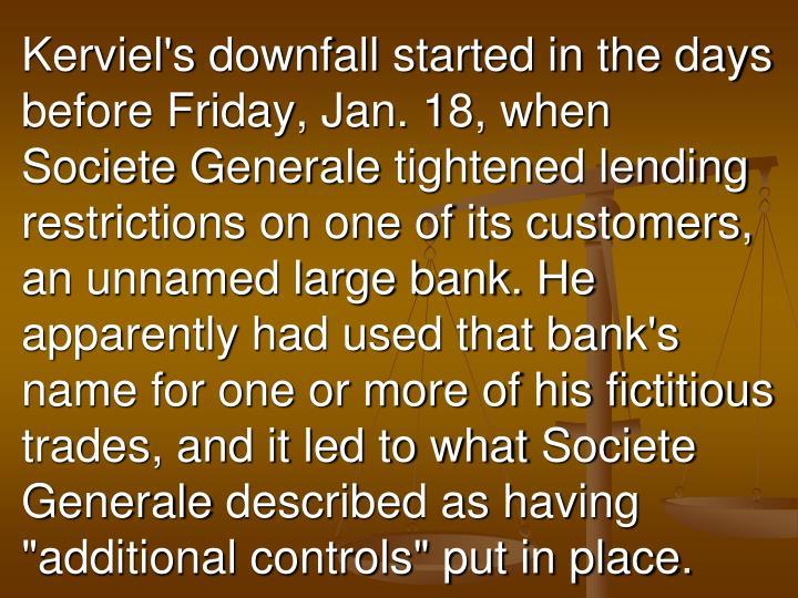 Kerviel's