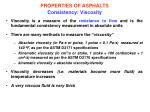 properties of asphalts consistency viscosity