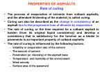 properties of asphalts rate of curing