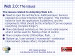 web 2 0 the issues