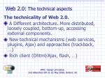 web 2 0 the technical aspects