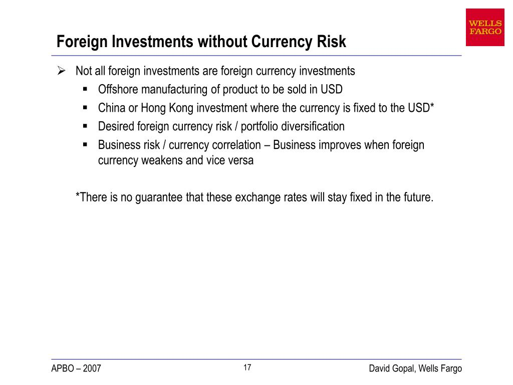 Ppt Taking The Foreign Currency Risk