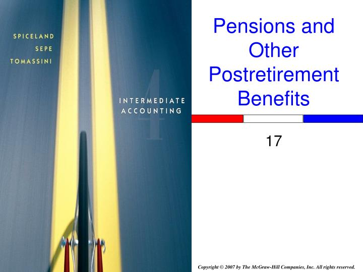 pensions and other postretirement benefits n.