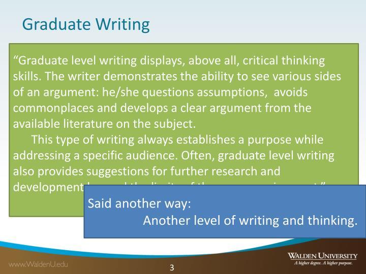 Graduate writing