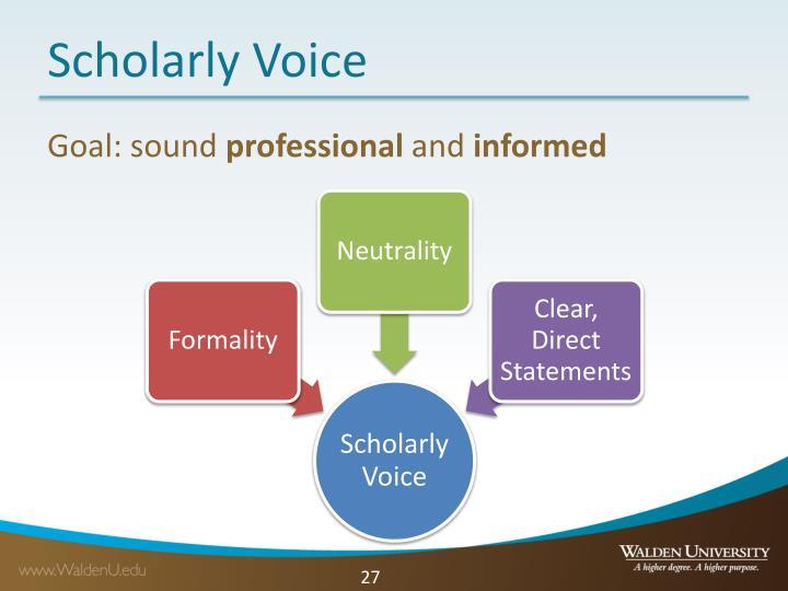 Scholarly Voice