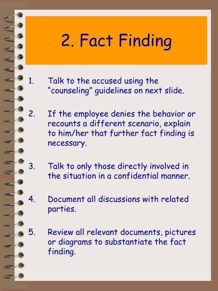 2. Fact Finding