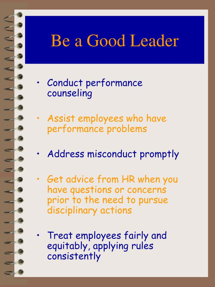 Be a Good Leader