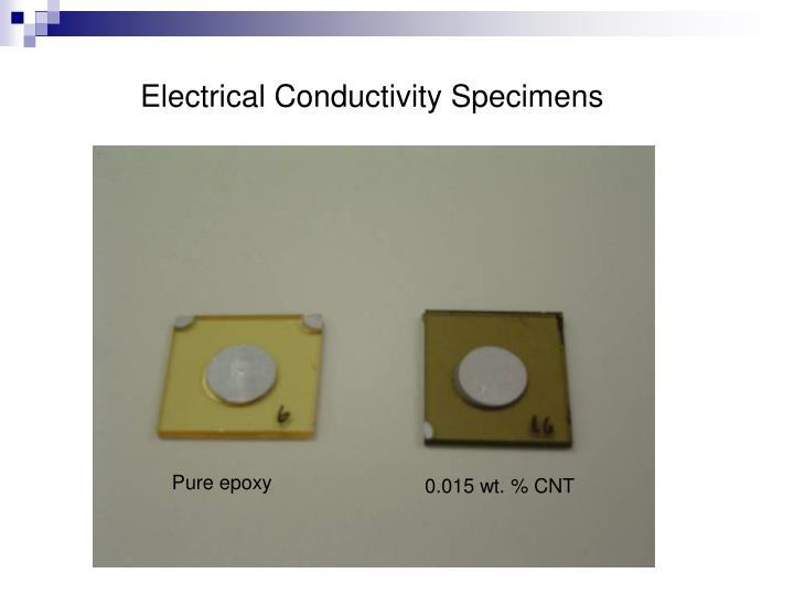 Electrical Conductivity Specimens