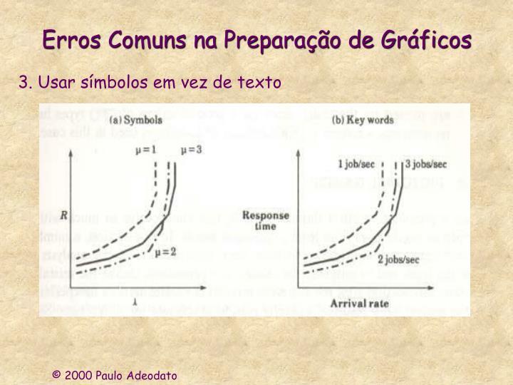 Erros Comuns na Preparação de Gráficos