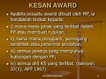 kesan award