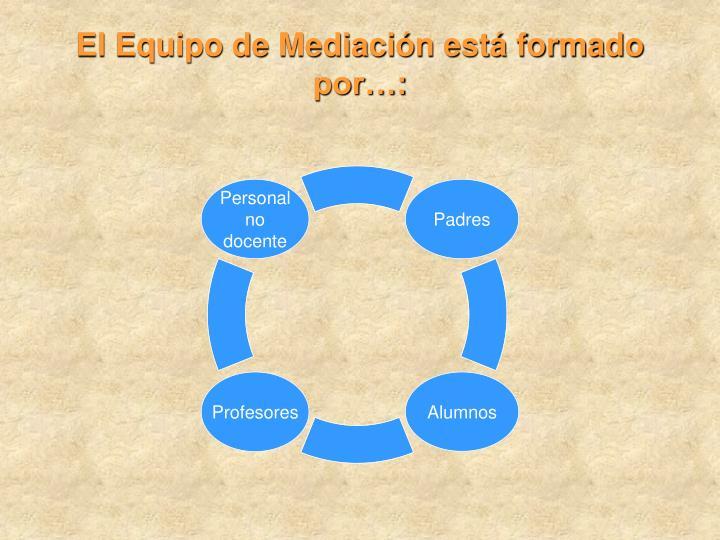 El Equipo de Mediación está formado por…: