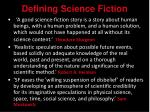 defining science fiction