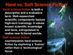 hard vs soft science fiction