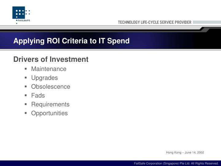 Applying roi criteria to it spend1
