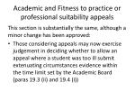 academic and fitness to practice or professional suitability appeals