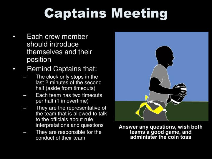 Captains Meeting