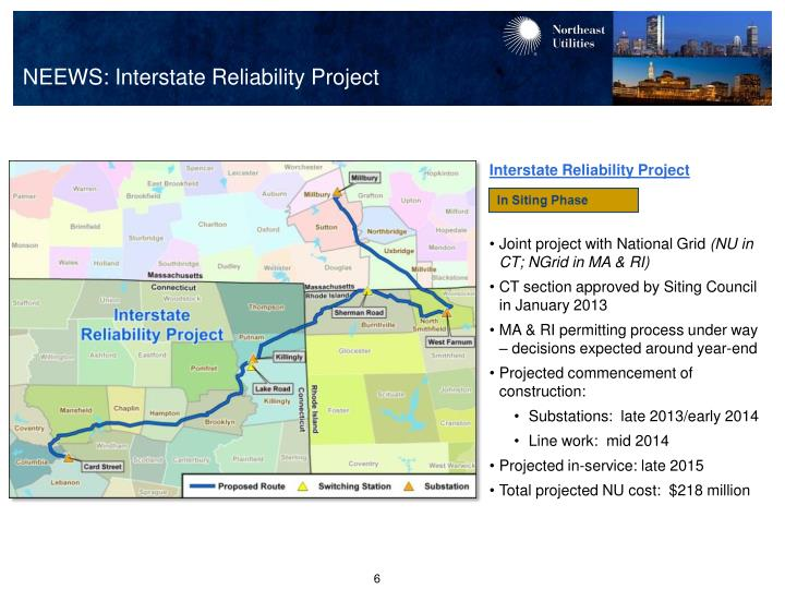 NEEWS: Interstate Reliability Project