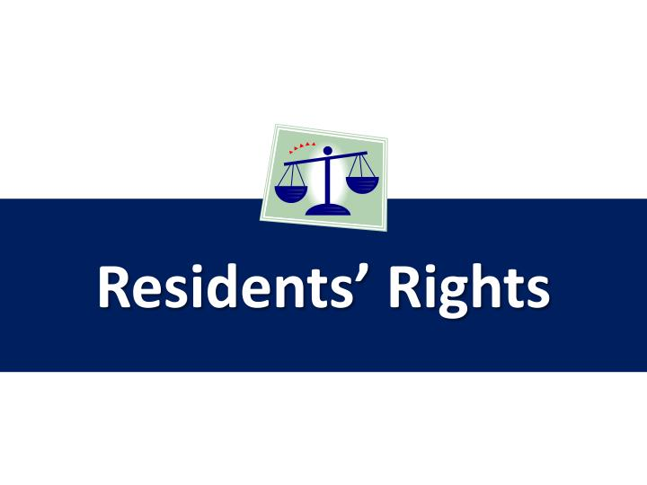 residents rights n.