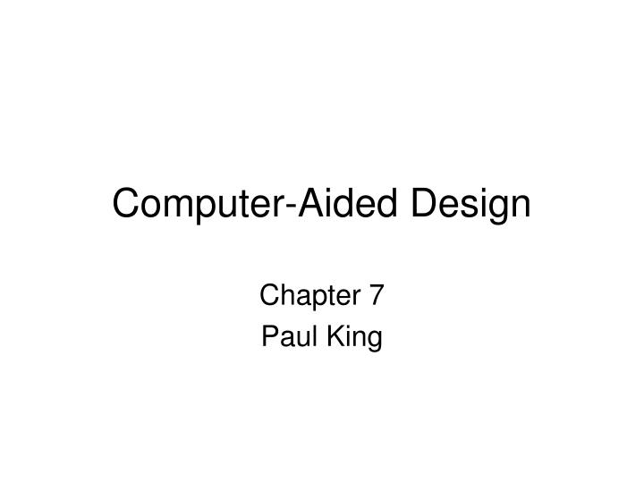 computer aided design n.