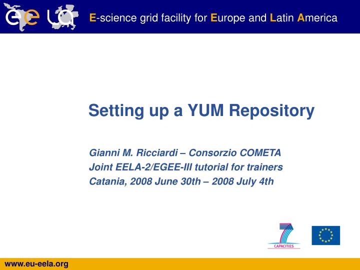 PPT - Setting up a YUM Repository PowerPoint Presentation