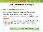 one dimensional arrays9
