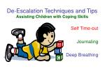 de escalation techniques and tips assisting children with coping skills