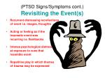 ptsd signs symptoms cont revisiting the event s