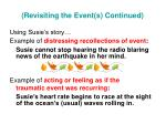 revisiting the event s continued