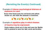 revisiting the event s continued1