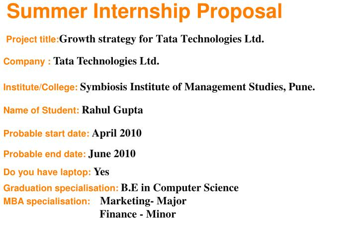 project title growth strategy for tata technologies ltd n.