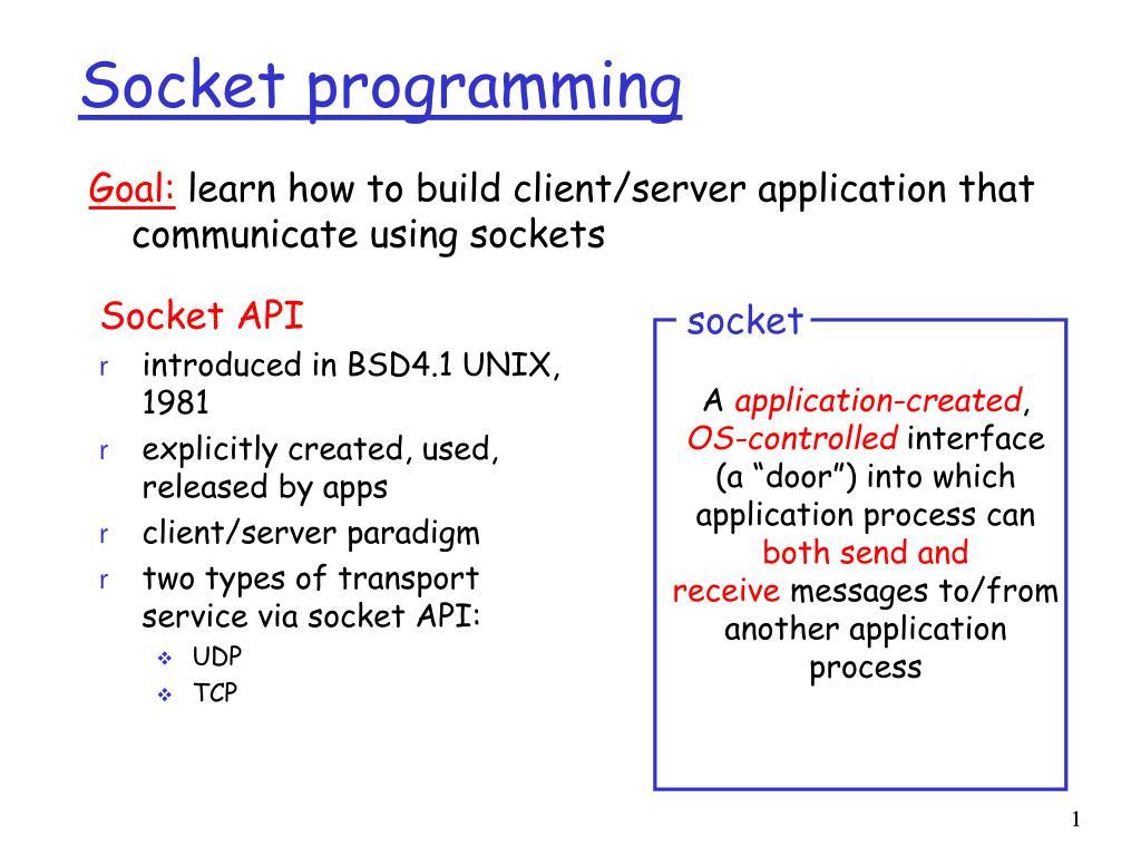 PPT - Socket programming PowerPoint Presentation - ID:5417055