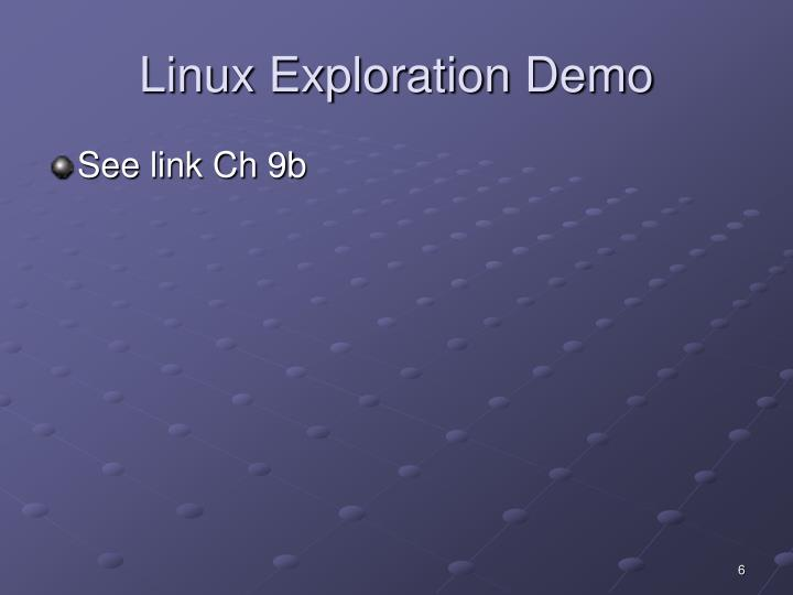 Linux Exploration Demo