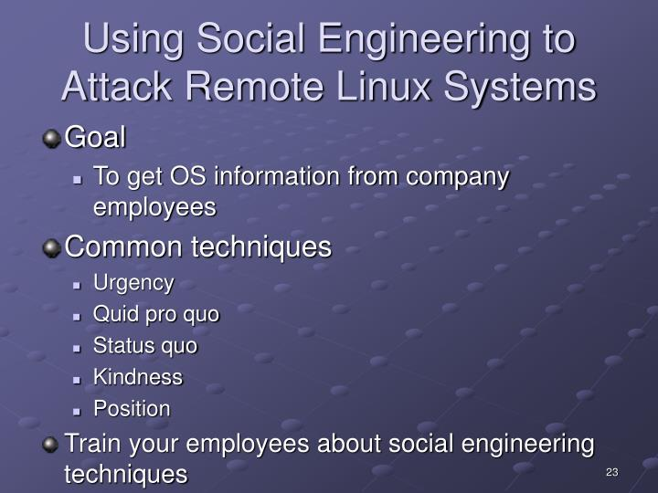Using Social Engineering to Attack Remote Linux Systems