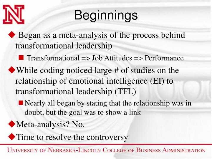 emotional intelligence and transformational leadership The relationship between emotional intelligence and transformational leadership: an investigation and review of competing claims in the literature james b hunt.