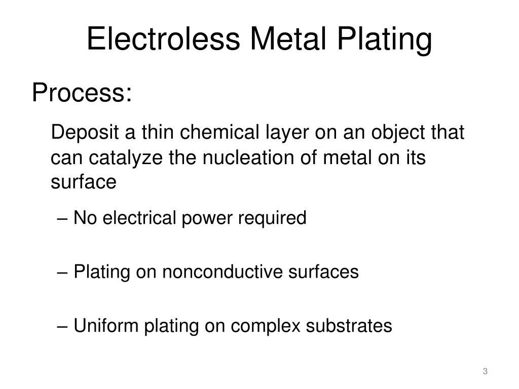 PPT - Novel Method of Surface Activation for Electroless