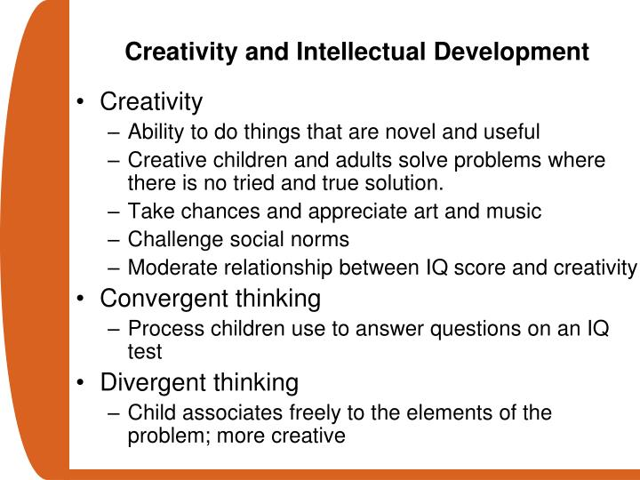 Creativity and Intellectual Development