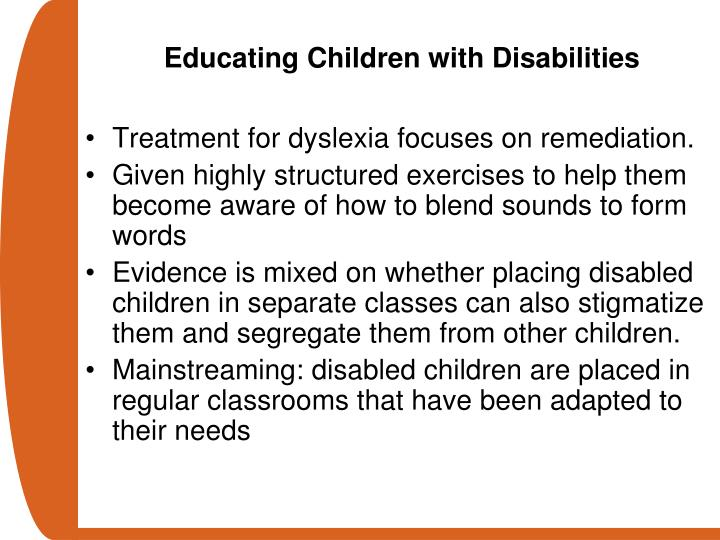 Educating Children with Disabilities
