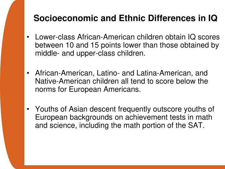 Socioeconomic and Ethnic Differences in IQ