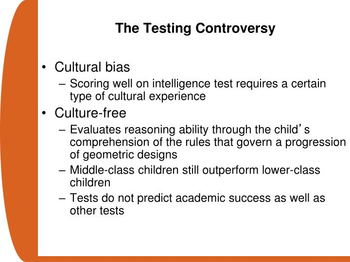 The Testing Controversy
