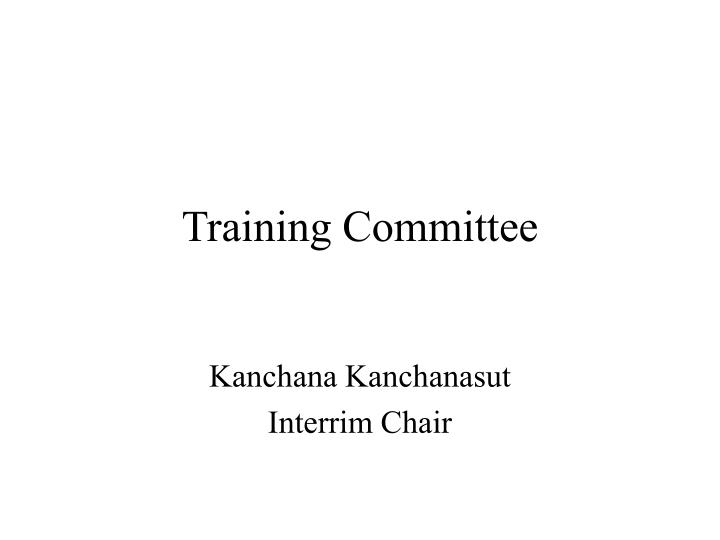 Training Committee