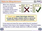 rules for filling electrons