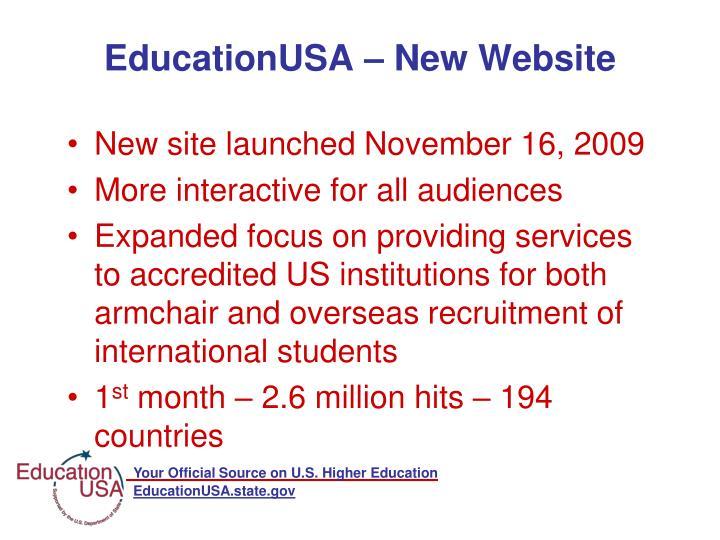 EducationUSA – New Website