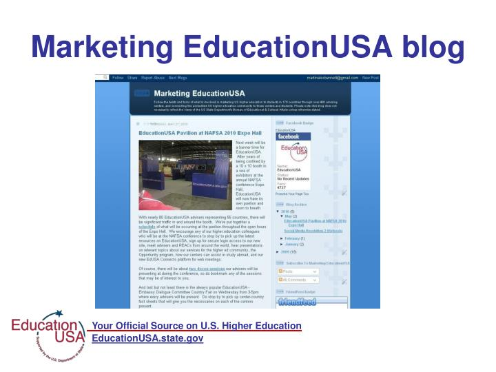 Marketing EducationUSA blog