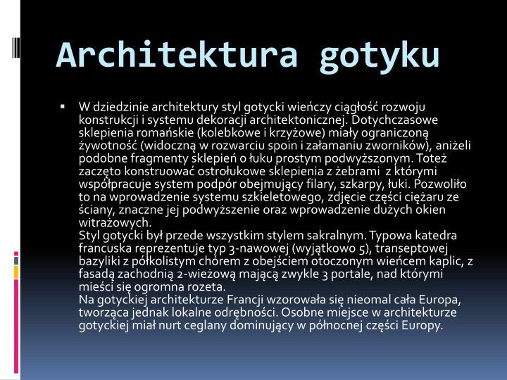 Architektura gotyku