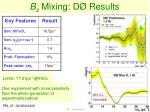 b s mixing d results