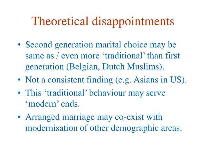 Theoretical disappointments