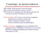 cosmology an ancient endeavor