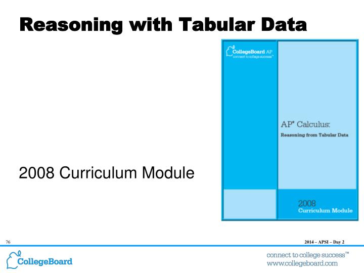 Reasoning with Tabular Data