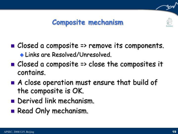 Composite mechanism